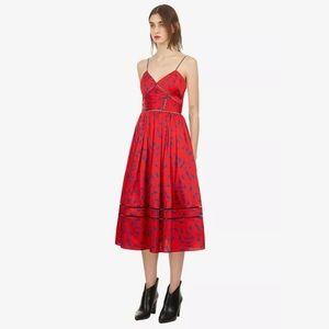 Self Portrait Azalea Red Print Midi Dress NWT $405